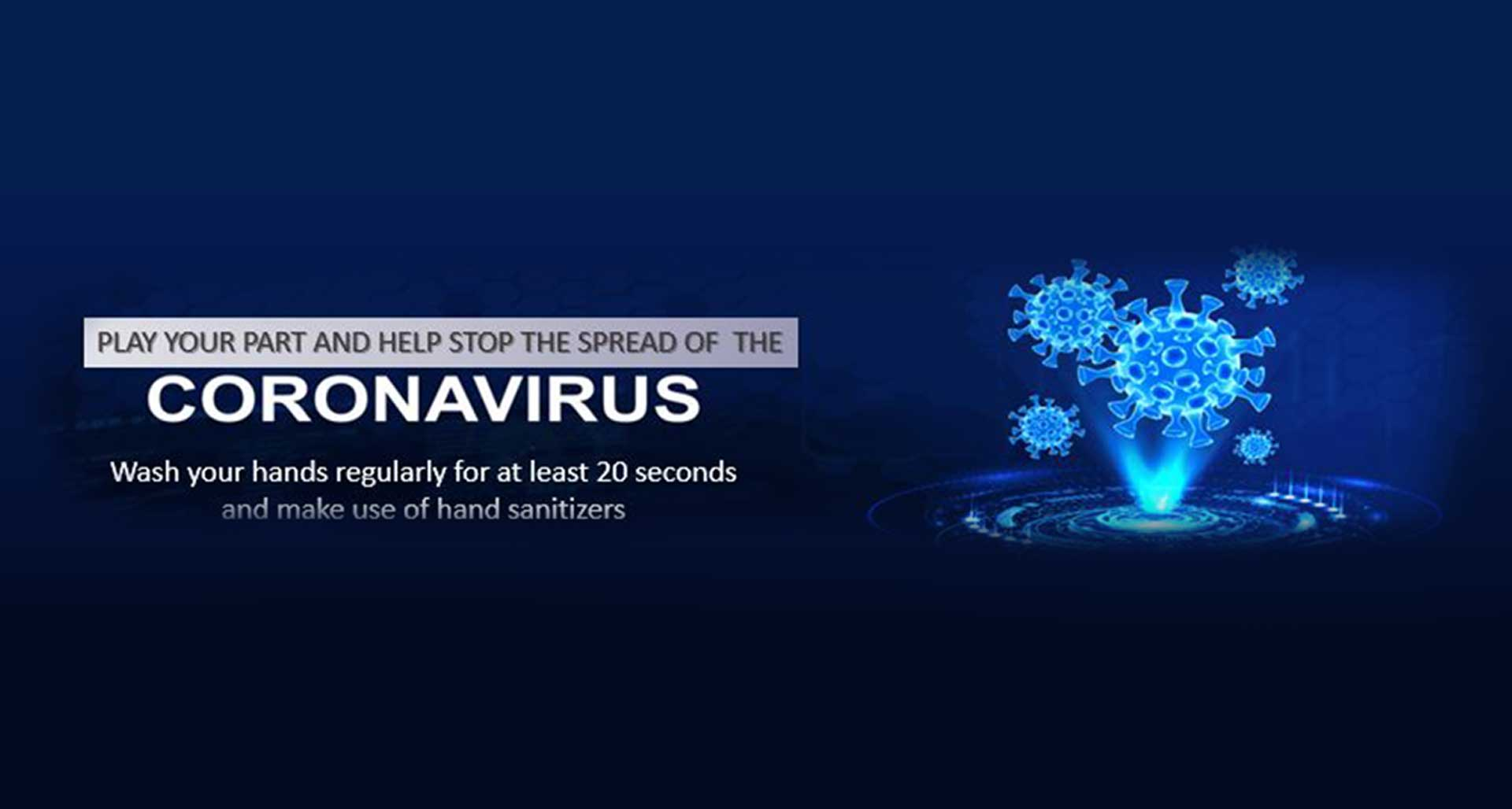OchriO Magalies Water Coronavirus Awareness Banner
